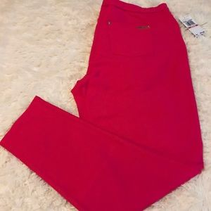 Michael Kors Pink Stretch Twill Knit Leggings